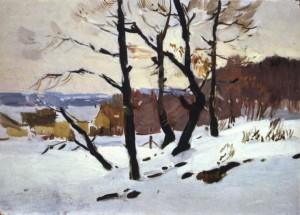 Зима в Невицькому, поч. 1950-х, к.о. 35х50