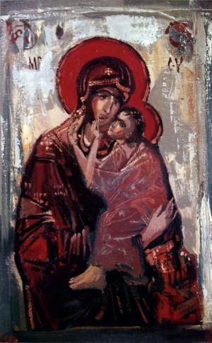 Богородиця, 2002, п.о., 40х60