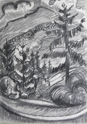 Ялиці, 1984, пап.вуг., 62х42