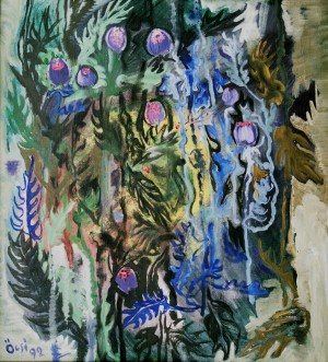Prickles, from the photo archive of Y. Nebesnyk, 1992, oil on canvas, 100x91