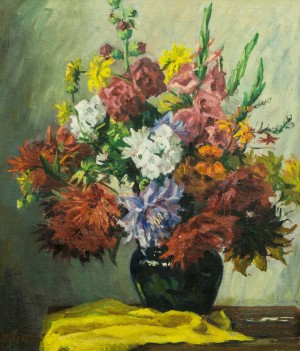 Flowers, 1970s, oil on canvas, 73x62