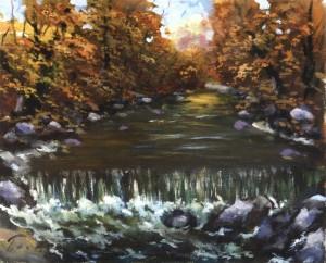 Осінній водоспад, 1986, 50x60