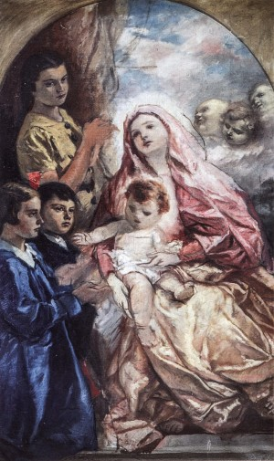 Children With The Virgin, 1920s, oil on canvas, 94x68