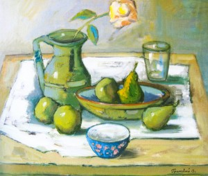 Still Life With A Bowl, 2007, oil on canvas, 60x70
