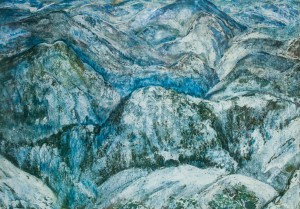 Зима, карт.темп.г.акв. 175х100