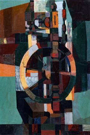 Loom, 1980, tempera on masonite, 100x70