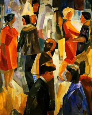 Crowd', 1977, oil on canvas, 100x80,5