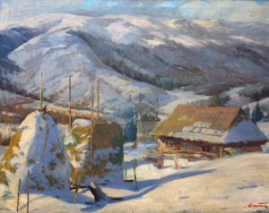 Winter Scenery, 1952, oil on canvas, 70,5x90,5