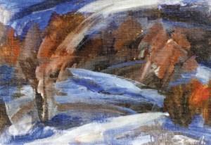 Нічний пейзаж, 1994, п.о.т. 49х69,5
