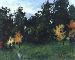 Осінній етюд, 1976, 25x30