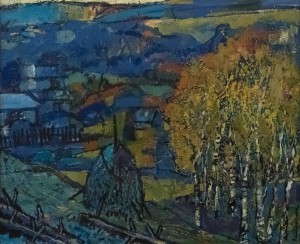 O. Kondratiuk The Carpathian Twilight', oil on canvas, 50x60