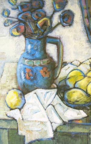 A Still Life With A Blue Vase, 2006, oil on canvas, 60x50
