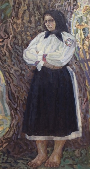 Always Waiting (Mother), 1961, oil on canvas, 112x57