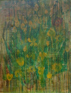 Composition With Flowers, from the photo archive of Y. Nebesnyk, 1982, oil on canvas, 90x70