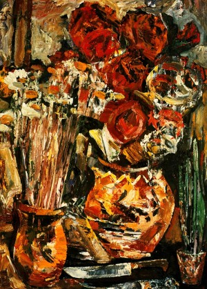 Still Life With Two Knives', 1978, oil on fibreboard, 86x61