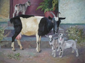 A Goat, oil on canvas, 60x80