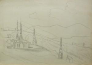 Електрика в горах, 1984, пап. о., 42х62