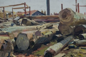 Logs, 1953, oil on canvas, 40х59
