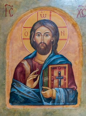 S. Medvid Christ the Pantocrator', board, tempera, 26,5x21,5