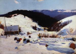 Зима, кін. 1950-х, п.о. 65х90