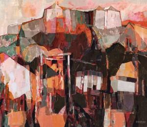 Vineyard on Pidzamkova Street, 2008, oil on canvas, 90x100