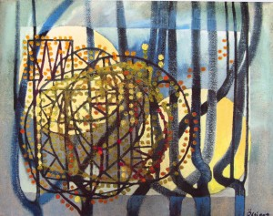 Composition. Willow, 2002, oil on canvas, 56x72