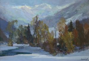 Зимовий пейзаж, 60х90