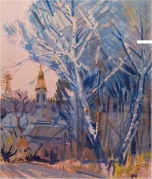 Winter Landscape, 1979,oil on canvas, 95x76