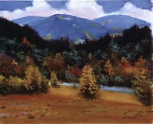 Осінній пейзаж Березнянщини, 1978, 60x70