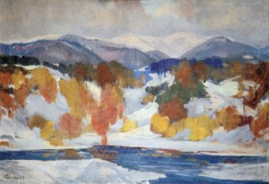 Winter Scenery, 1960, oil on canvas, 75x115