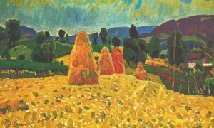Haystacks, 1975 , oil on canvas, 42х65