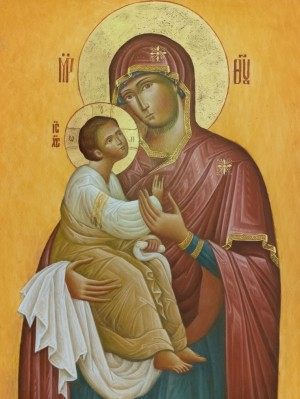 The Virgin of Odigitria', board, levkas, egg tempera, gold, 35x45