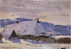 Зима, поч. 1950-х, к.о. 21,5х30