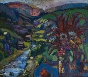 O. Kondratiuk Scenery In Kvasy Village', oil on canvas, 70x80