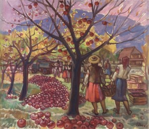 Gardening Of Apples, 1983, oil on canvas, 80x90