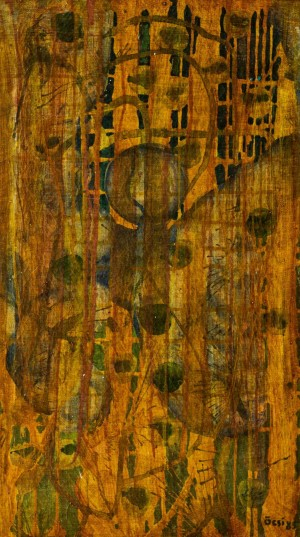 Composition, 1985, oil on canvas, 51x29
