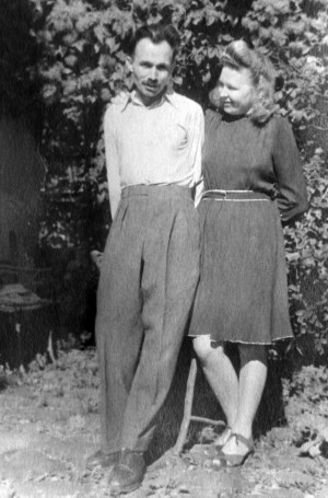 Young married couple. Vasyl and Uliana Svyda, 1949 (From Y. Svyda)