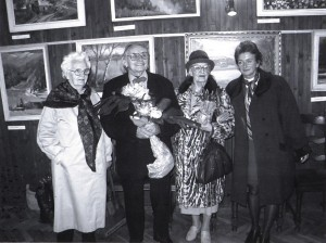 At the jubilee exhibition to the 90 anniversary of A. Marton in the Matrix Museum, Százhalombatta, 2003