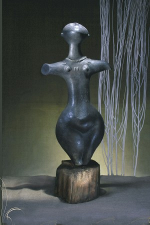 To the sun 1993. clay.moulding. glazing. blackening