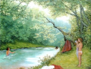 'Summer Day On The Uzh River', 1999, oil on canvas, 70x90