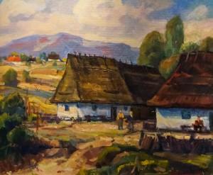 Солом'яна хата, 1993, п.о., 60х70