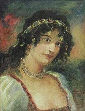 Girl With A Diadem And A Necklace