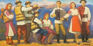 Holiday On Polonyna, 1970s, oil on canvas, 60x120