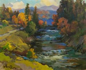 Autumn Under Polonyna, 1984, oil on canvas, 65x80