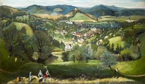 View of Selemecbánya(now Banská Stiavnica, Slovakia) 1902