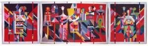 Сучасний театр, 1989, триптих, гобелен