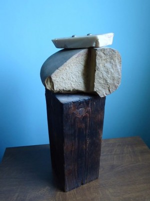 Inalienable, 2001, wood, stone, 47x22x19