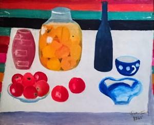 Натюрморт з абрикосами, 1965