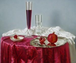 Гранатовое вино, 2010, 61х74