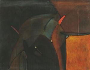 'Мотиви печерних розписів', п.о., 70х90